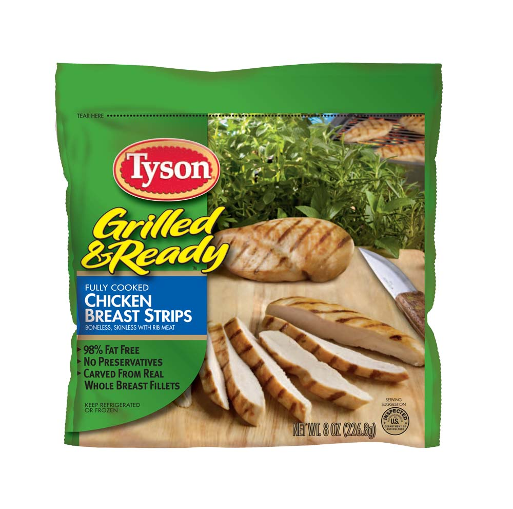 tyson chicken strips ready to eat