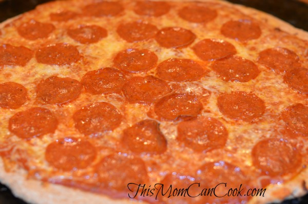 Pepperoni Pizza with whole wheat flour