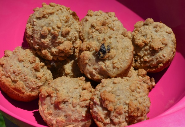 Apple Spice Muffins With Granola Crumb Topping