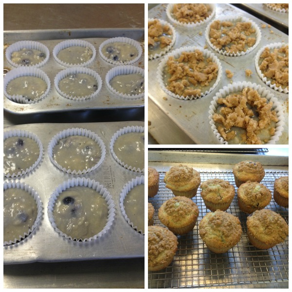 Blueberry Muffins with Streusel