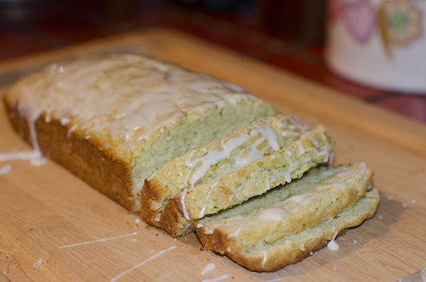 Lemon Zucchini Bread Glazed