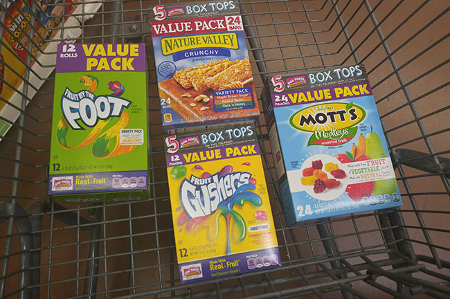 Products with Box Tops For Education