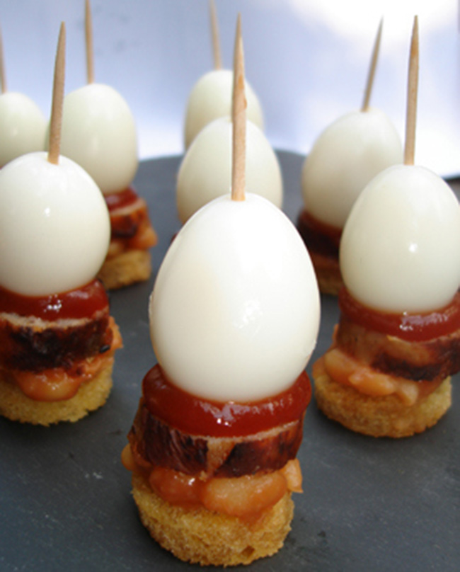 Interesting foods on a stick part two for Canape in english