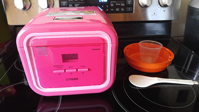 Pink Rice Cooker by Tiger