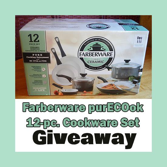 Farberware purECOok Nonstick Ceramic Cookware Set Review + Giveaway