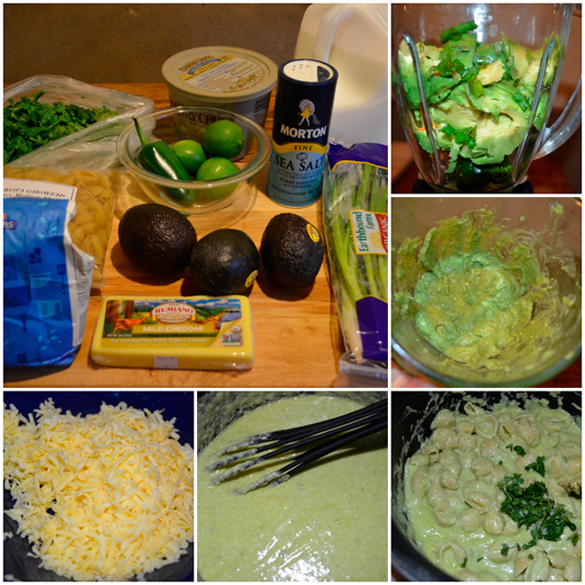 Pasta with avocado and lime