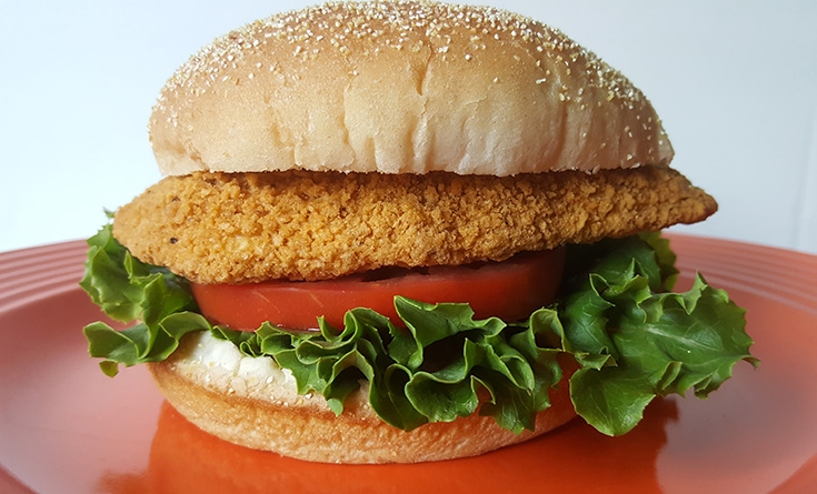 Baked Chicken Breast Fillet Sandwich With Foster Farms