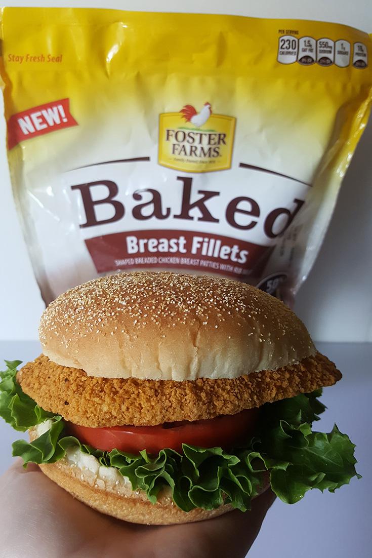 Foster Farms Baked Chicken Fillet Sandwich