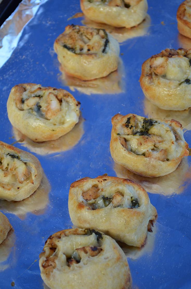 Chicken & Spinach Pinwheels Recipe