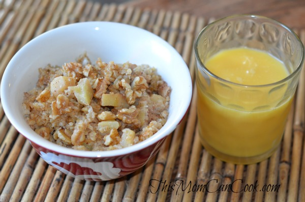 Crockpot Apple Cinnamon Steel Oats Recipe
