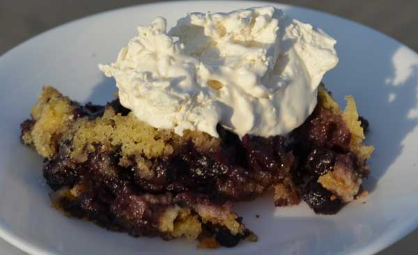 Lemon Blueberry Crockpot Cake
