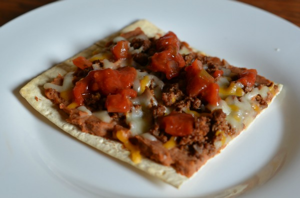 Flatbread Mexican Pizza With Salsa