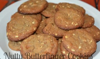Nutty Butterfinger Cookies