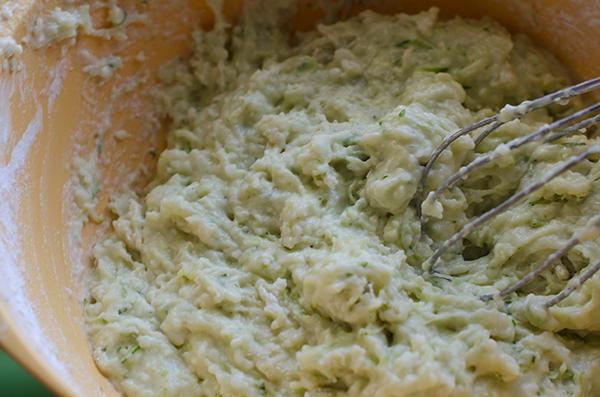 Lemon Zucchini Bread Batter