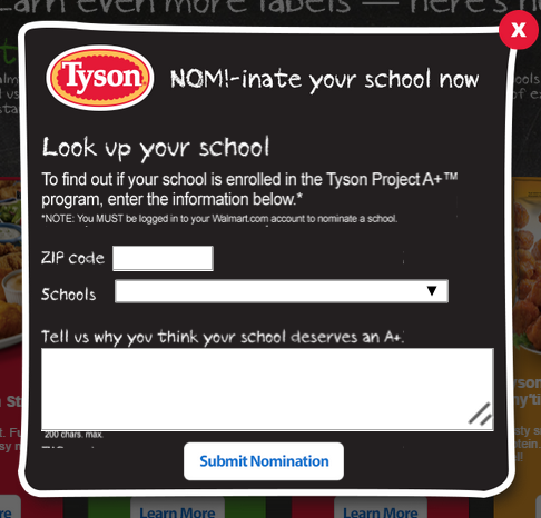 Nominate Your School for Tyson Project A+ labels