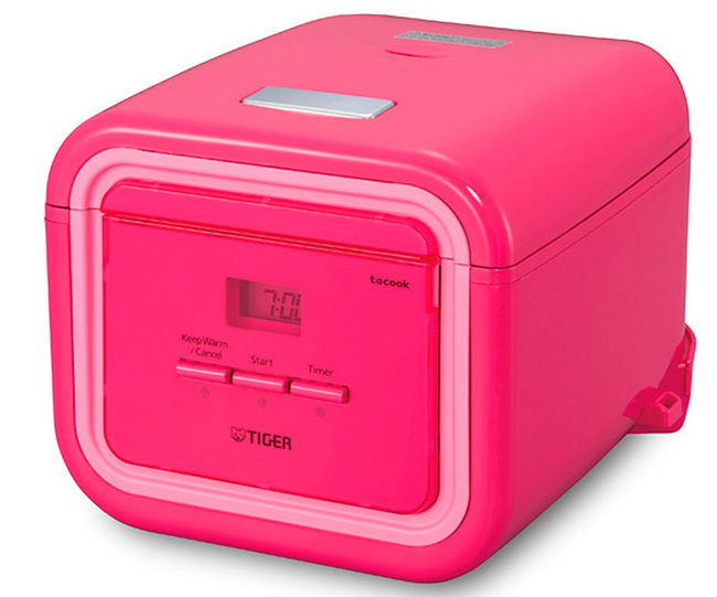 Tiger Corporation JAJ-A55U PP 3-Cup Micom Rice Cooker and Warmer with Tacook Plate, Passion Pink