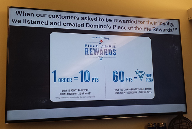 Domino's Pizza Piece Of The Pie Rewards