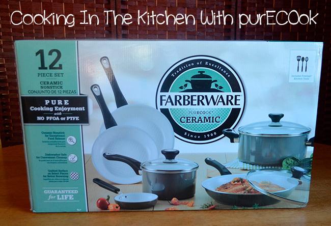 Farberware purecook 12 piece ceramic set