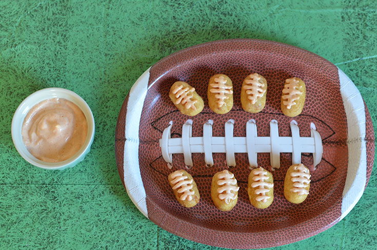 Spicy Mini Corn Dogs #FosterFarmsGameDay