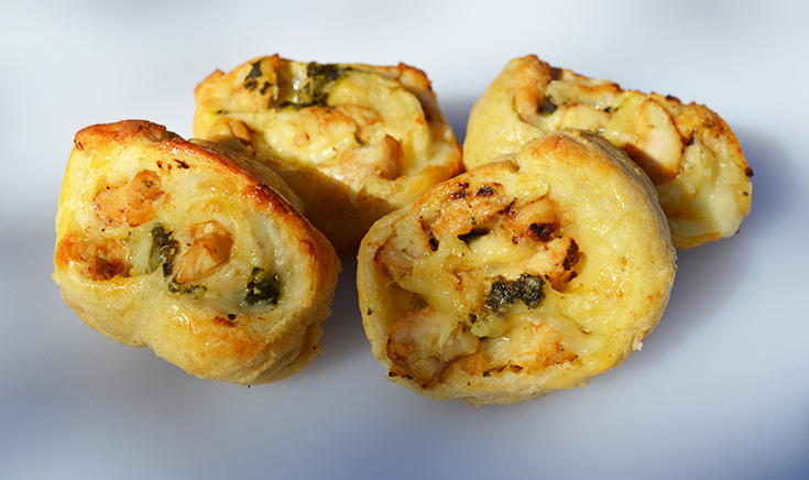 Chicken & Spinach Pinwheels Recipe