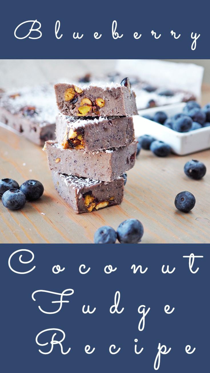 Blueberry Pistachio Coconut Fudge Recipe