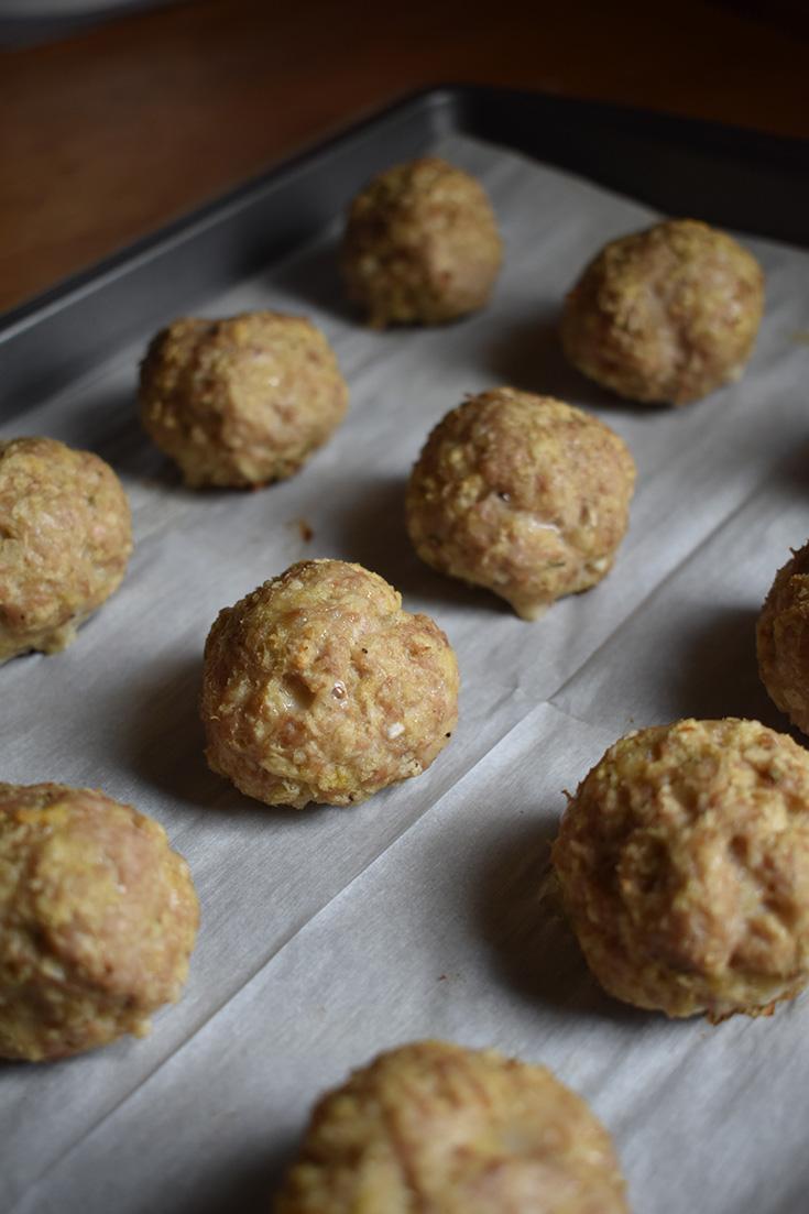 Baked Ground Turkey Meatballs