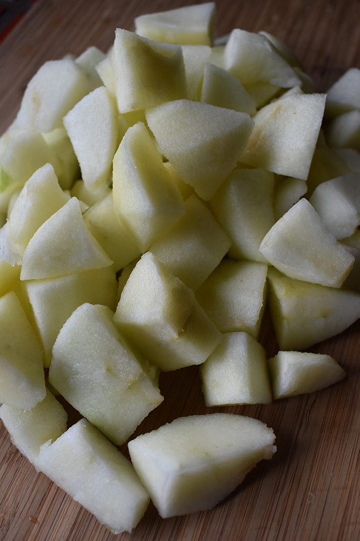 Chopped Apples for Instant Pot Applesauce