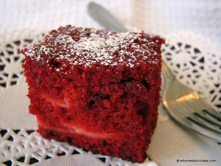 Red Velvet Squares With Cream Cheese