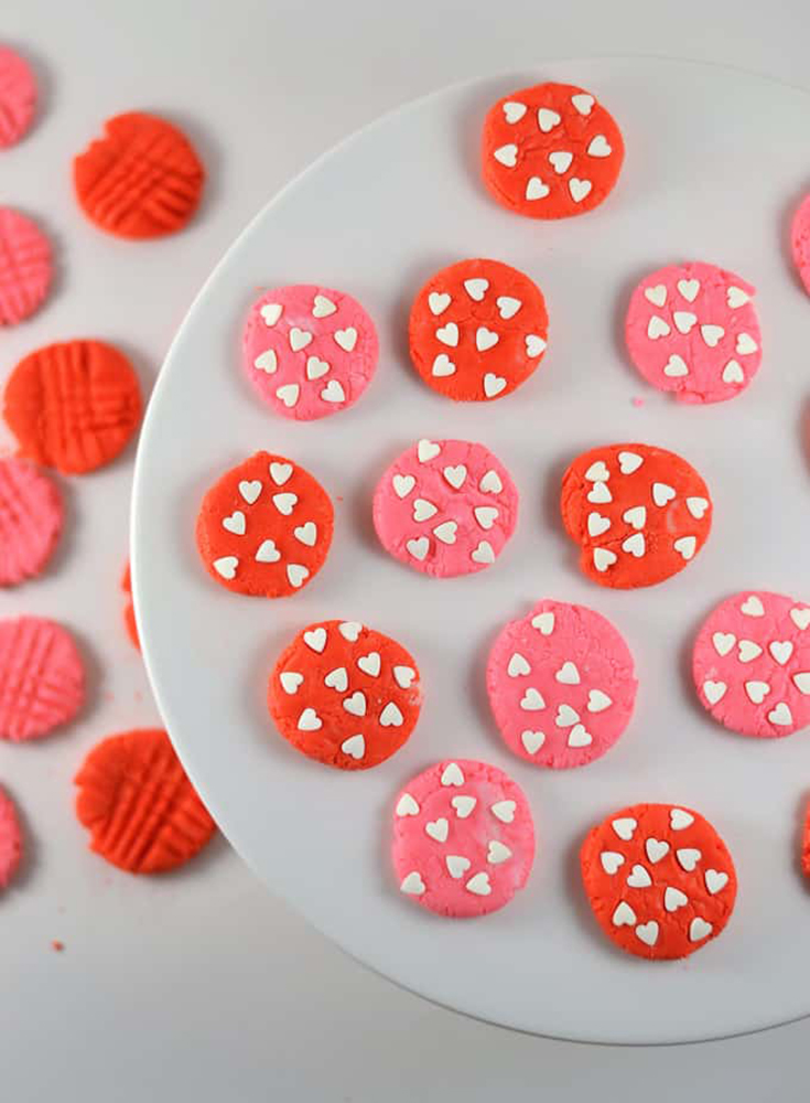 Valentines Day Peppermint Cream Cheese Mints