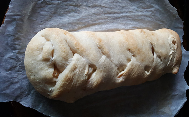 Baked Braided Apple Strudel