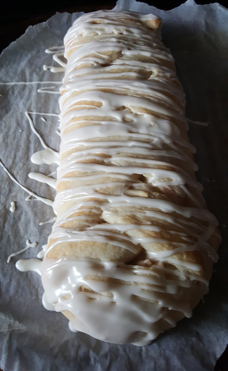 Glazed Braided Apple Strudel