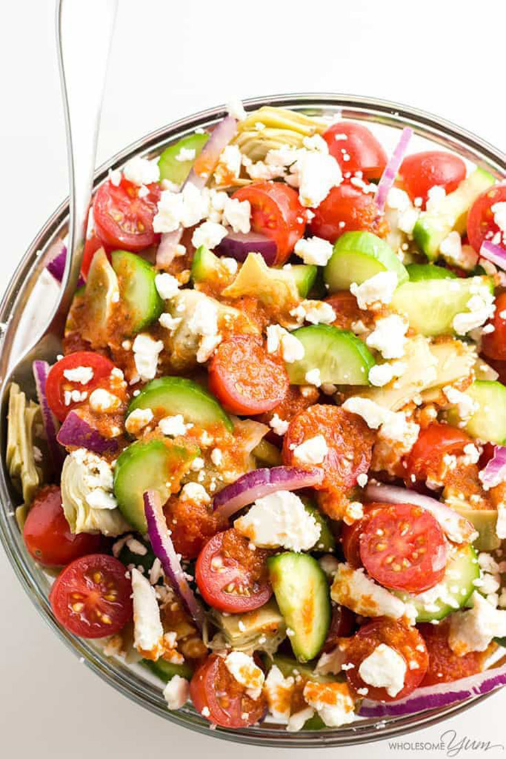 Mediterranean Salad With Sun-Dried Tomato Vinaigrette
