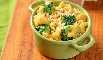 Chicken, Broccoli, & Cheddar Mac and Cheese Squares
